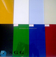 Top quality float color painted glass sheet company with ISO CCC CE