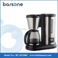 15-18 cups Stainless Steel Automatic 2 in 1 Drip Coffee Tea Maker Machine 1.8L