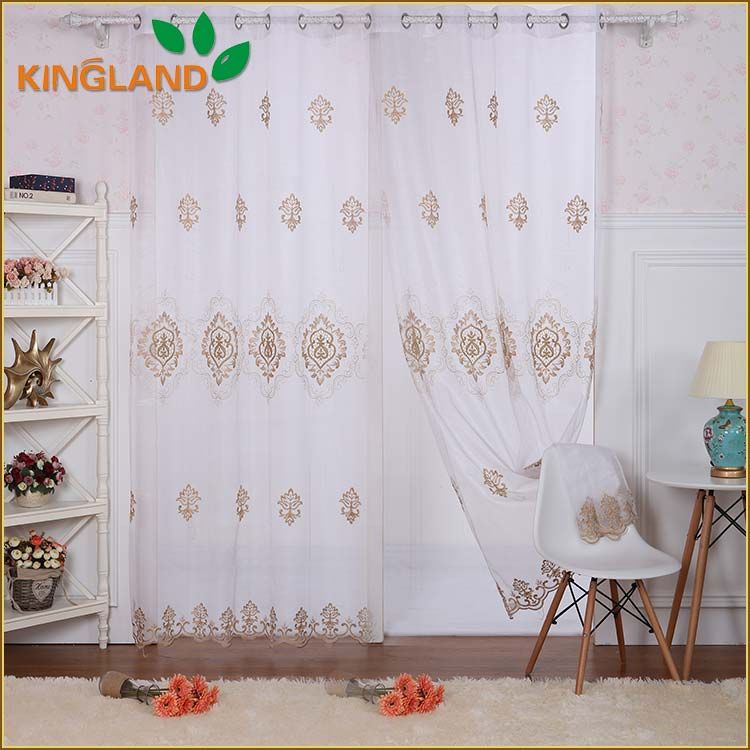 Latest Design Small MOQ American Style Decorative fancy raw silk drapery