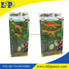 Dinosaur set toy with trees and egg