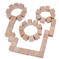 1inch Unfinished wood block beech Wood building square cube Diy craft