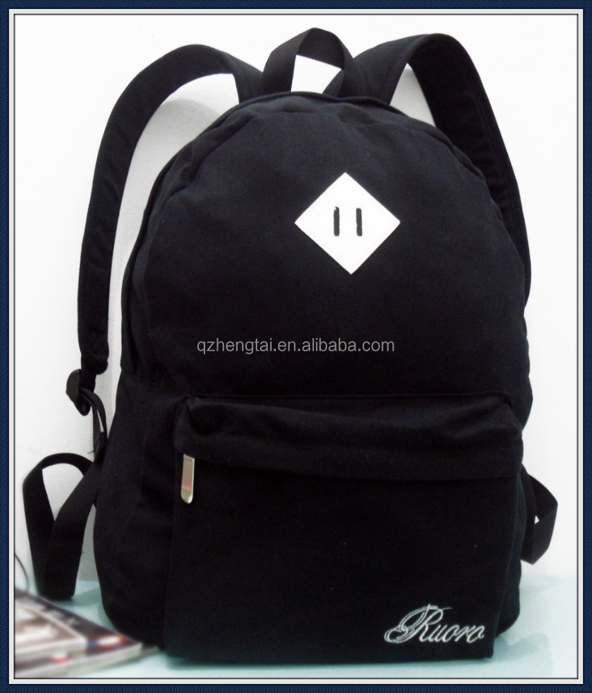 Canvas backpack bag for school