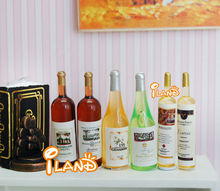 6 Bottle Wine for 1:12 Scale Dollhouse Miniatures Dining Drink FE014