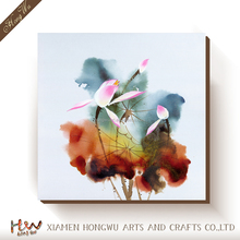 Picture Of Handmade Beautiful Pink Flower Wall Art Painting