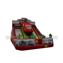 Top selling commercial used inflatable car slide A4034