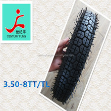 China BIS cerfication bajbaj tuk tuk for sale motorcycle tire 3.50-8