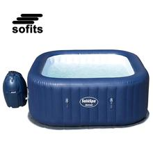 Bestway 54154 Hawaii AirJet Square Hot Tub Spa for 4-6 Person Portable and Inflatable Hot Tub Spa