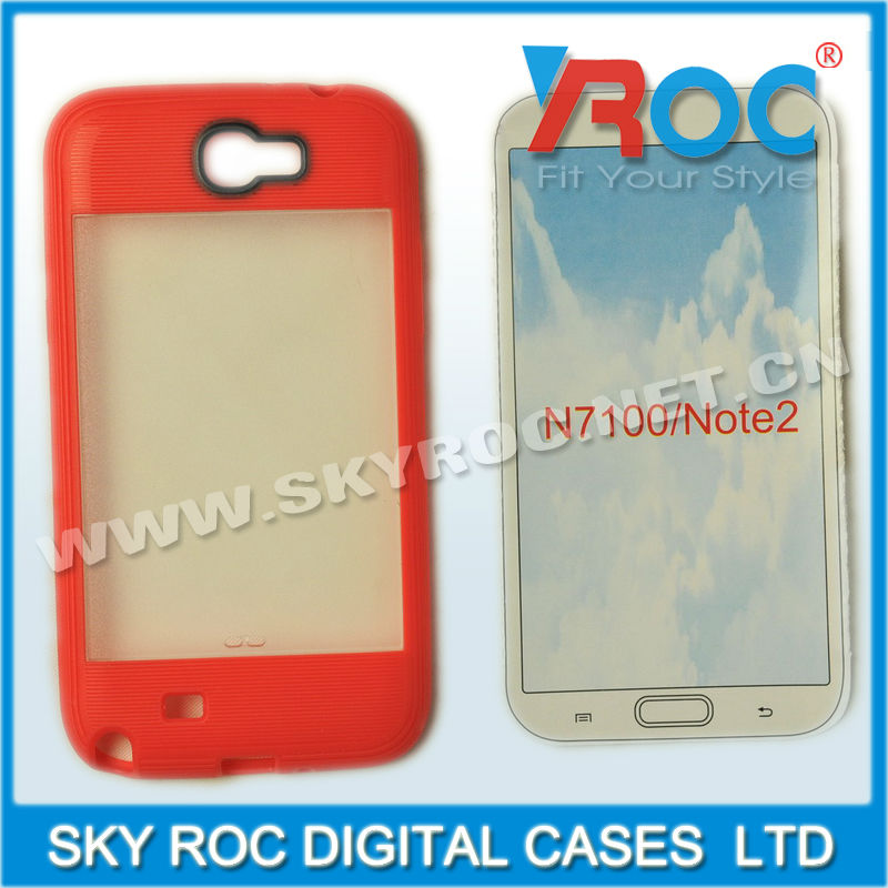 2013 colors Frosted skin cover case for samsung galaxy note2 n7100