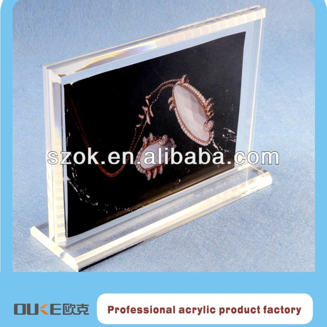acrylic picture show holder/ paper photo frame