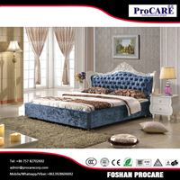 Foshan fashion king size bedroom furniture prices