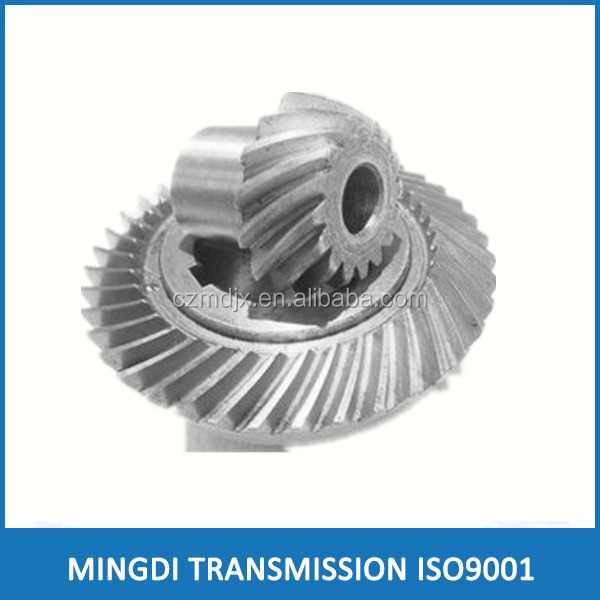 China High Quality Material Precision bevel gears, Custome nonstandard carburizing steel spiral bevel