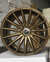 Alloy Material and 100mm 120mm PCD bronze finish golf car alloy wheels