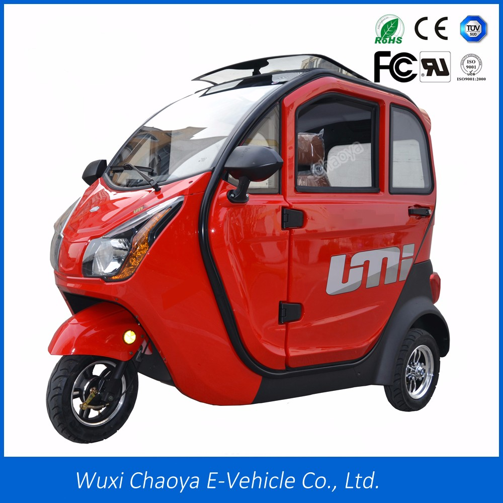 Handicapped use 60V/32AH 1000W motor enclosed 3 wheel electric motorcycle tricycle for sale