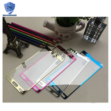 Wholesale Tempered Glass Screen Protector For Samsung Note 4 5,Ultra Thin Full Screen Protective With Eletroplating Color