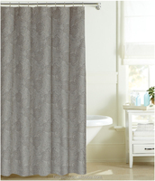 New design exquisite and elegant100% polyester printed barth curtain