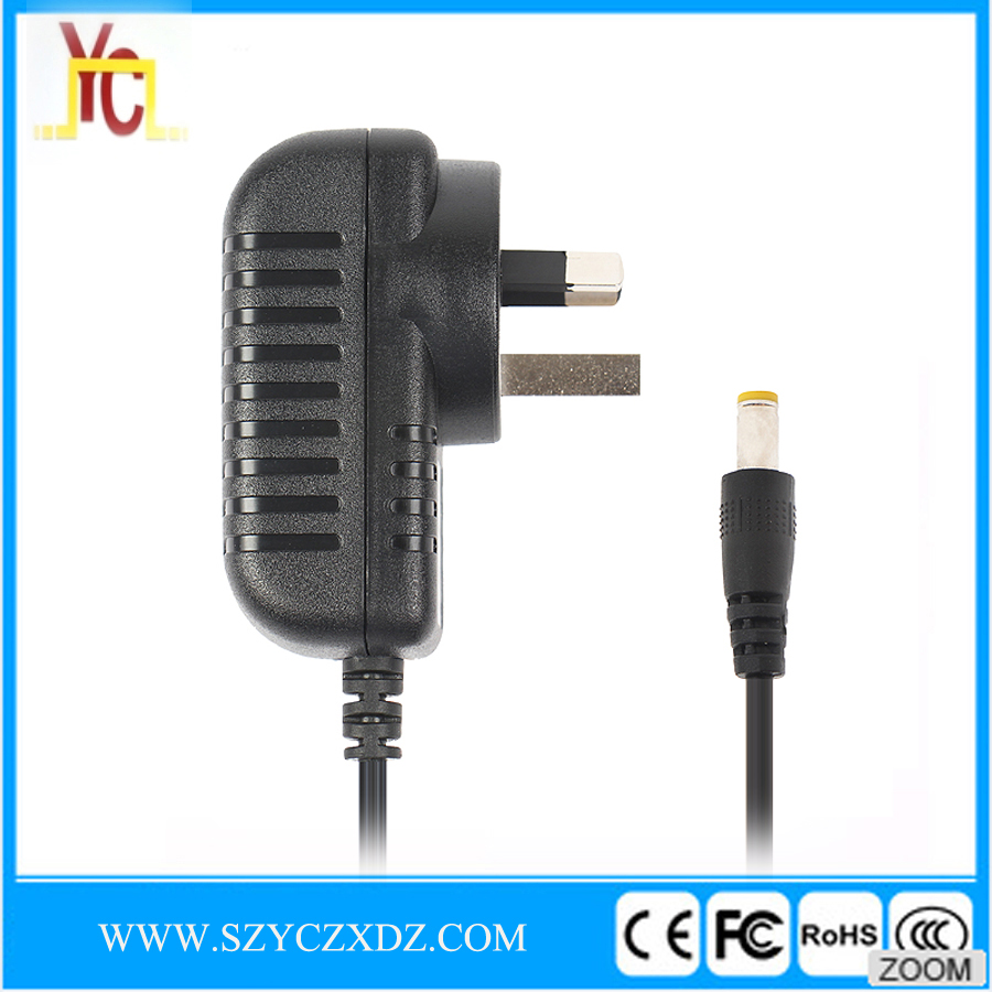 AC/DC UK 5V 2A 10W black power adapter use for Router wifi micro USB charger switching power supply