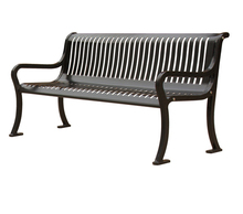 Arlau Antique Cast Iron Park Bench Leg, Outdoor Metal Seating, Hard Wood With Cast Iron Metal Frame