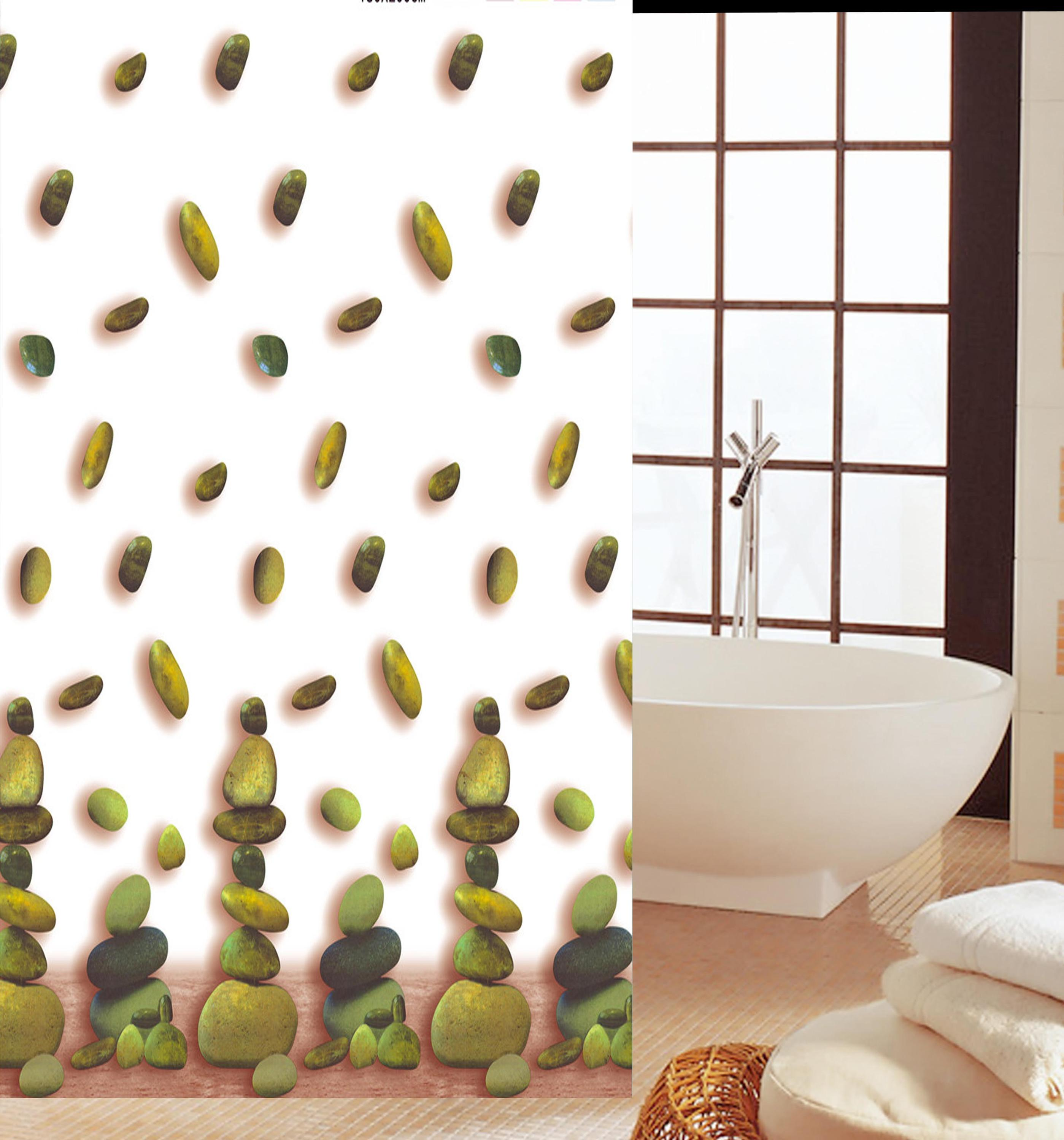 Stone pattern new fashion variety practical PEVA shower curtain