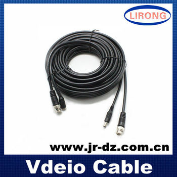 BNC+DC rg6 coaxial cable for cctv camera cable