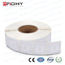Custom printed or blank white 13.56mhz HF roll nfc sticker, roll nfc adhesive label