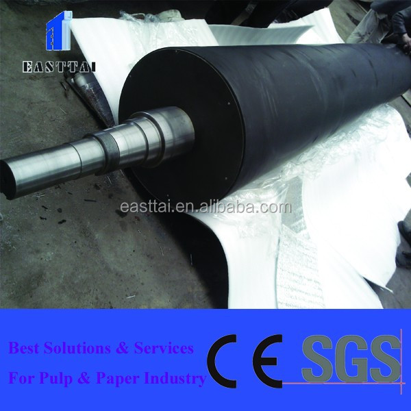paper making forming section use large diameter rubber coated breast roll