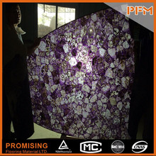 2015 beautiful decorative natural purple quartz kitchen stone island counter top