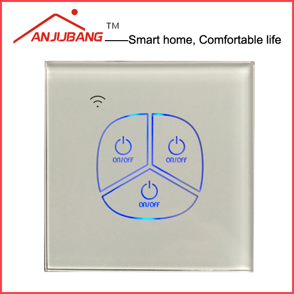UK/EU Standard Remote Control 2 way optional touch switch, led back light, Zigbee remote control