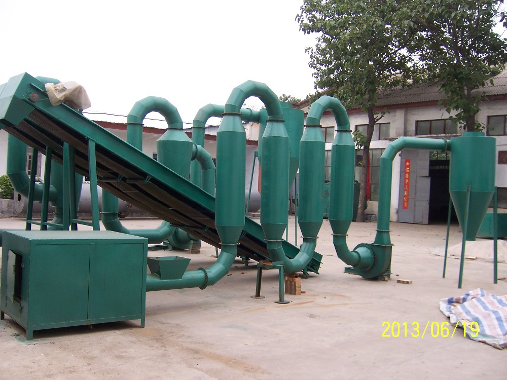 Hot airflow pipe dryer / sawdust drying machine