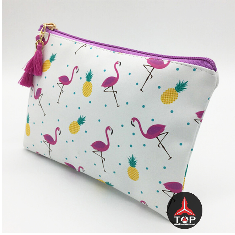 Fashion sublimation neoprene pouch bag <strong>cosmetic</strong> with zipper