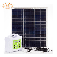 YiFeng YF-40W Multifunctional Solar & AC Charger Solar Home Lighting Kit Small Rechargeable Mobile Solar Energy System