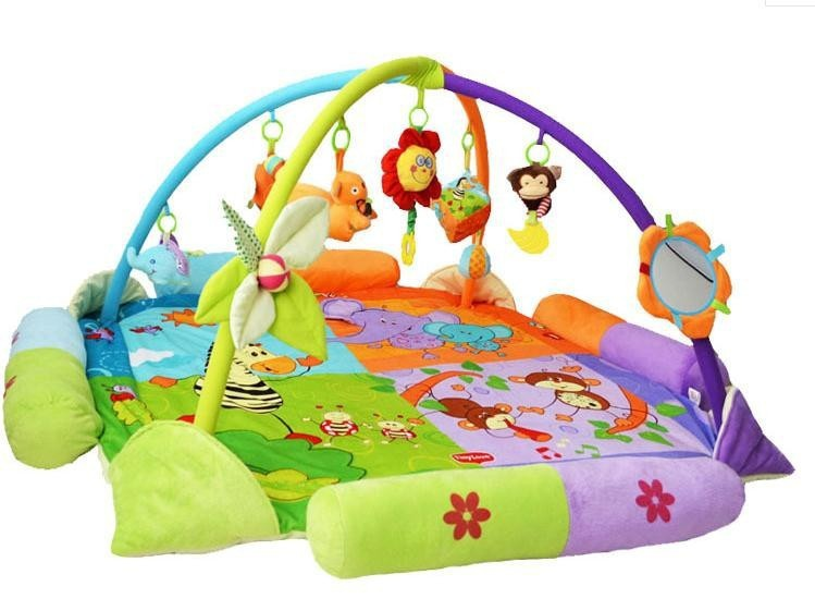 Baby Toy Play Mat Twist and Fold Activity baby Gym Play mats Soft and Colorful