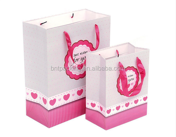 Top sale promotional shopping custom handmade paper bags designs
