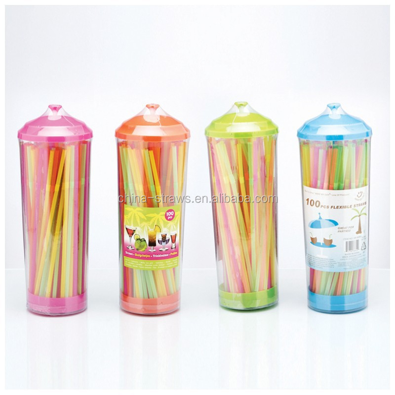 Wine accessories plastic straws Dispenser Holder