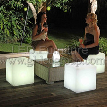 Led glow stool for bar/club/party etc, cube, 16colors change, modern and beauty