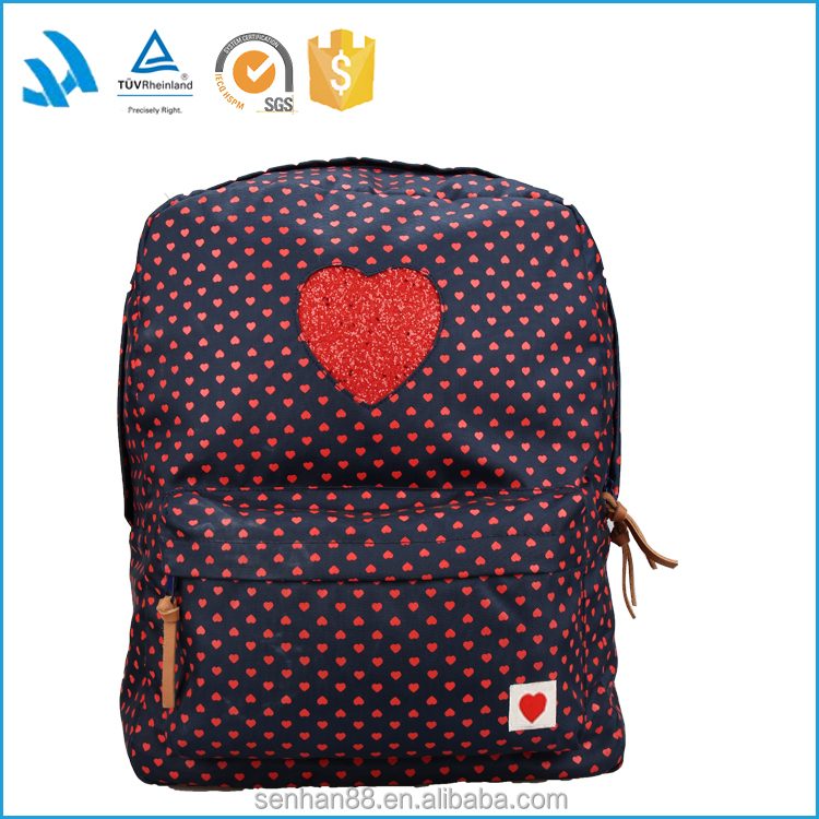 New products 2016 famous brand school backpack stocks OEM