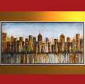 abstract painting building oil paintings