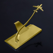 Custom airplane metal name card holder or business card holder with laser your <strong>logo</strong>
