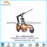 JIS F7398 Bronze Self Closing Drain Valves 10K DN25