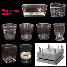 Plastic mold maker for plastic cake containers