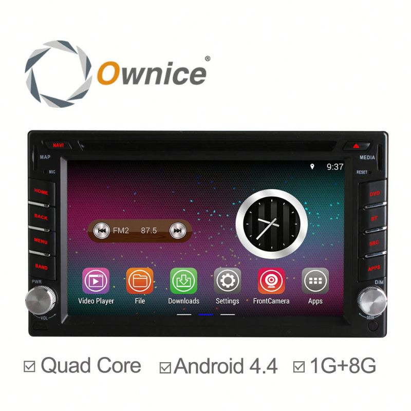 Quad core RK3188 Android 4.4 up to android 5.1 double 2 din universal Car DVD stereo with BT