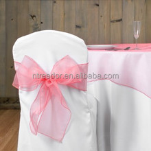 wholesale Crystal organza bows various color chair sashes for wedding chair cover