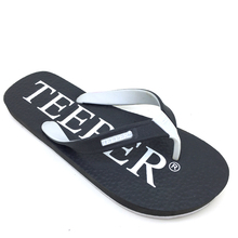 Rubber outsole white men nude slippers men black thongs slippers flipf flop manufacture