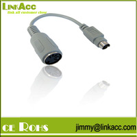 LinkYH-26 Pin Mini Din PS/2 Male to 5 Pin Din AT Female Keyboard 15cm Cable Adapter