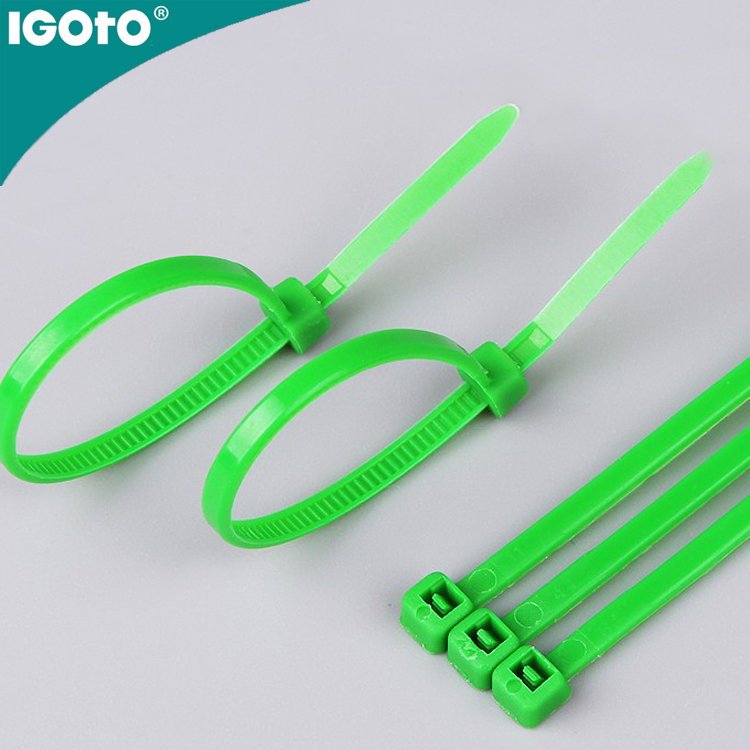 igoto high quality plastic nylon 66 zip tie , double wire twist ties,cable ties for car use