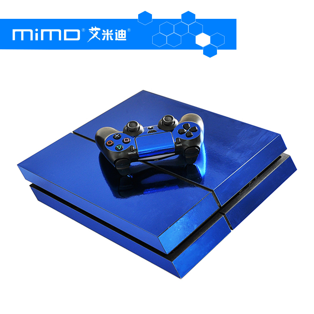 Electroplated PS4 Skin Stickers Wrap for Sony PlayStation 4 Console and 2 Controllers Skins