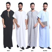 2017 latest Islamic Clothing Men's Abaya Muslim Throbe