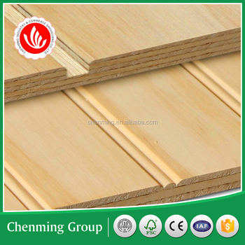 10 lines groove plywood for display