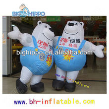 2013 hot sale Polar bear inflatable cartoon