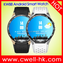 KW88 1.39'' Round Screen Single SIM Card WiFi GPS Android Smart Watch Phone 2.0MP Camera