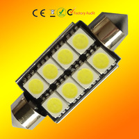 C5W festoon 8SMD 5050 CANBUS 41MM 42MM 8led 5050 LED License Plate Interior Dome Light Bulb error free